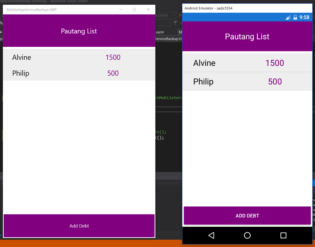 Create a Backend for Xamarin Forms using Azure Mobile App's Easy