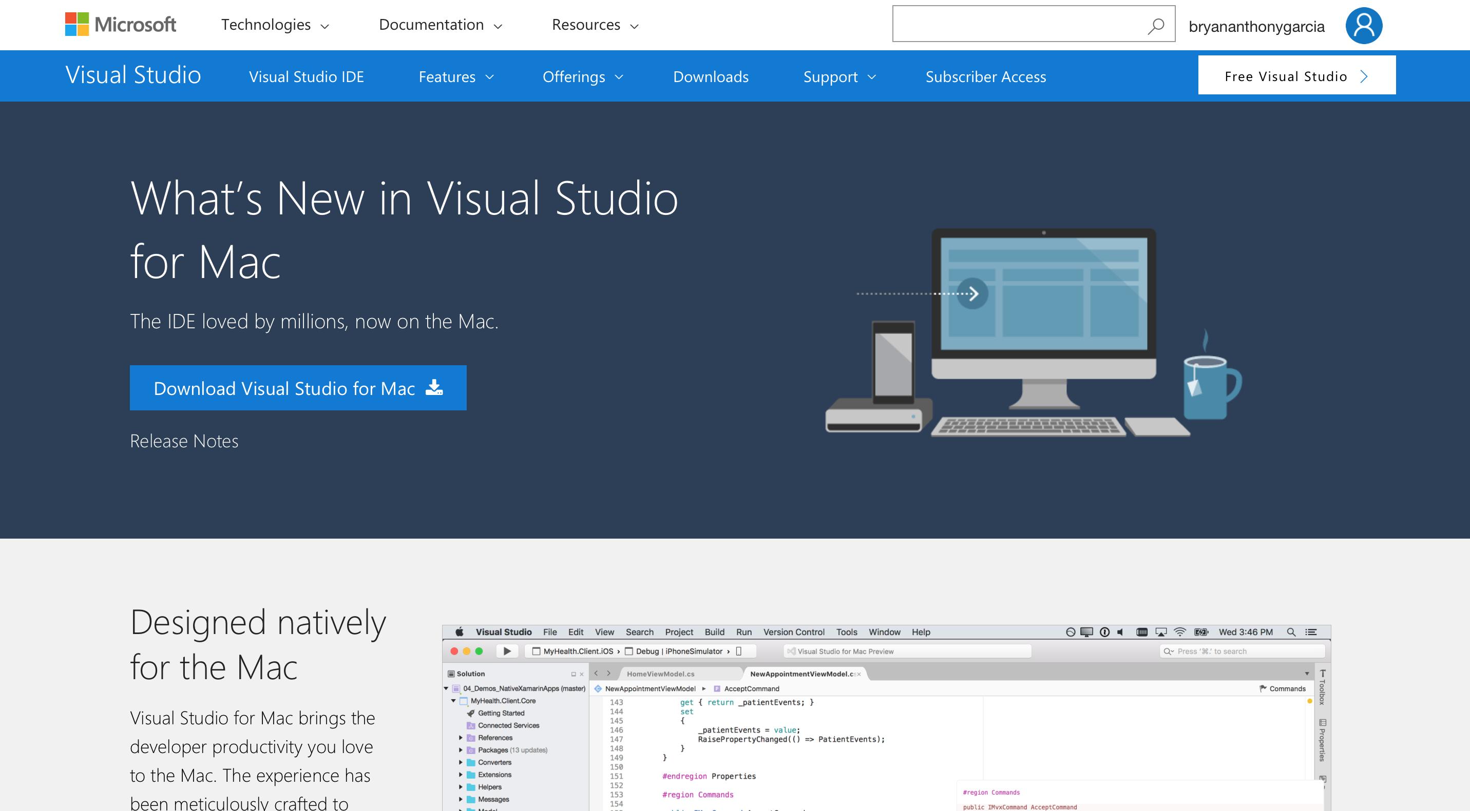 visual studio for mac download